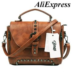 US  19.58 49% OFF Aliexpress.com   Buy ZMQN Crossbody Bags For Women  Messenger Bags 2018 Vintage Leather Bags Handbags Women Famous Brand Rivet  Small ... 3cc5bbd096