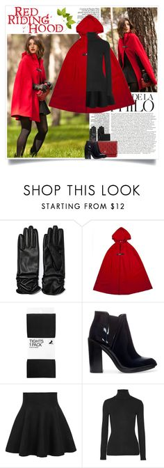 """Lovely Pepa: Red Riding Hood"" by nora-nazeer ❤ liked on Polyvore featuring H&M, Chanel, Zara and Splendid"
