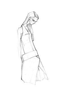Fashion illustration - fashion design sketch // Milan Zejak