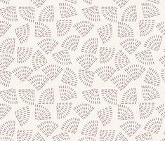 WILDFLOWER SEEDS MAUVE fabric by holli_zollinger on Spoonflower - custom fabric