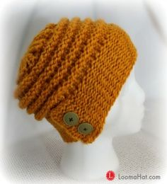 The City Slouch Hat – Loom Knit Pattern and Video