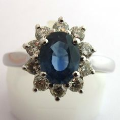 Bague de fiançailles saphir diamants. #bague #vintage #fiancailles #paris