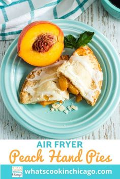 Air Fryer Peach Hand Pies Easy No Bake Desserts, Fancy Desserts, Delicious Desserts, Dessert Recipes, Gluten Free Bars, Homemade Snickers, Most Delicious Recipe, Hand Pies, Cupcake Cakes