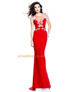 Prom Dresses 2014 Mermaid Red Evening Dresses Scoop Sexy Formal Dresses Under 200 , You will find many long prom dresses and gowns from the top formal dress designers and all the dresses are custom made with high quality Evening Dresses Uk, Sexy Evening Dress, Sexy Formal Dresses, Pretty Dresses, Beautiful Gowns, The Dress, Dress Red, Homecoming Dresses, Bridal Dresses