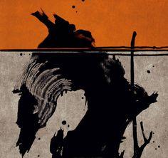 Fabienne Verdier - Contemporary Artist - L'art de la calligraphie monumentale - Vieille souche de bois I - 2006