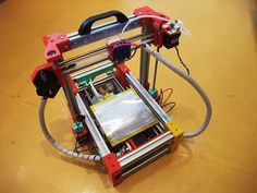 """""""FoldaRaP"""": a compact, folding rep-rap 3d printer. There goes Kristi's last objection to a 3d printer in our home :)"""