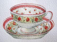 12-7-11 Tea Cup #1 (Watercolor : 10x13cm.) | Flickr - Photo Sharing!