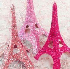 torre eiffel, sparkle, sparkly, pink, cute, glitter, decoration, girly, girlie, princess, bedroom