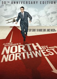 Alfred Hitchcock's North by North West (1959) with Cary Grant and Eva Marie Saint. I always loved the way they did this poster, especially with the arrows in the name.