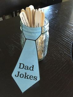 Fathers Day Party decorations - Dad Jokes www.katescalzo.com