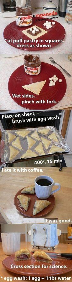 smore empanada - for some reason this recipe cracks me up!!