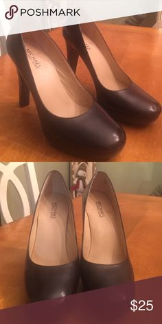 Michael Kors Dark Brown Heels I am reposhing these gorgeous shoes.  Unfortunately, they are too small for me.  Very little wear.  Great condition. MICHAEL Michael Kors Shoes Heels