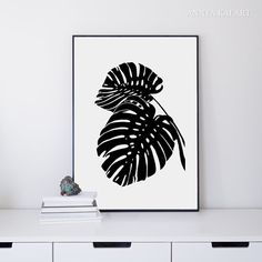 Tropical Wall Art Print  Monstera Leaf  Botanical by AnnyaKaiArt