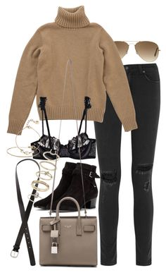 """Untitled #8060"" by nikka-phillips ❤ liked on Polyvore featuring Ray-Ban, rag & bone, La Perla, H&M, Miss Selfridge, Yves Saint Laurent, Gorjana and Christian Dior"