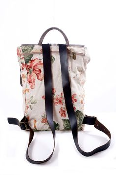 Floral Backpack 13 Inch Laptop Bag Floral School Backpack