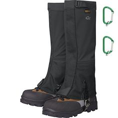 Outdoor Research Womens Crocodiles Gaiter Black w Carabiners Medium *** To view further for this item, visit the image link.