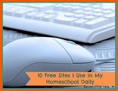 Ten Free Sites I Use in My Homeschool