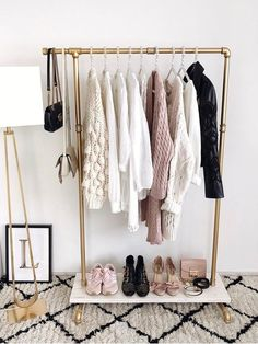 The Best Open Closet Inspiration To Keep Your Wardrobe Super-Organized. Creativ… The Best Open Closet Inspiration To Keep Your Wardrobe Super-Organized. Creative organization hacks for you closet and clothing with open closets in small. Open Wardrobe, Wardrobe Closet, Vacation Wardrobe, Perfect Wardrobe, Space Outfit, Clothes Rail, Clothes Rack Bedroom, Pipe Clothes Rack, Hanging Clothes Racks