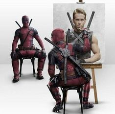 hmmm Deadpool Art, Deadpool Funny, Deadpool Painting, Marvel Heroes, Marvel Avengers, Marvel Dc Comics, Marvel Entertainment, X Men, American Comics