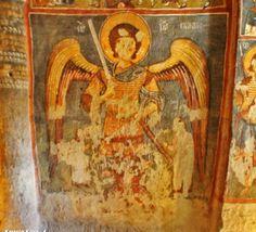 "But Karanlık Kilise, Cappadocia: labeled ""Choniates"""