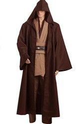 Ya-cos Star Wars Revenge of the Sith Obi Kenobi Wan COSplay Costume Jedi Outfit Suit Brown