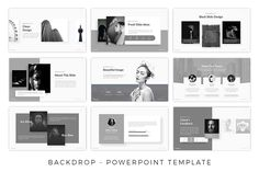 Backdrop - Black and White Template by BrandEarth on @creativemarket