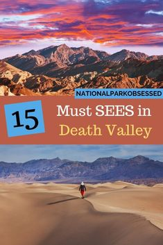 Planning your first visit to Death Valley? Here are 15 things you can't miss on your first visit to Death Valley National Park. Find the best things to do in the park.     things to do in Death Valley / Death Valley Things to do / must see death valley / death valley must sees National Park Passport, National Park Camping, National Parks Usa, Usa Travel Guide, Travel Usa, Budget Travel, Travel Guides, Travel Tips, Death Valley National Park