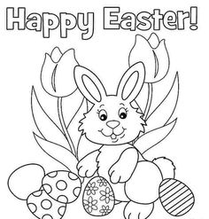 Printable Easter Coloring Pages For Kids, Toddlers, Adults Easter Coloring Pages Pdf Happy Easter Bunny Coloring Pages Free Easter Coloring Easter Coloring Pages Printable, Easter Bunny Colouring, Bunny Coloring Pages, Easter Egg Coloring Pages, Easter Printables, Colouring Pages, Coloring Pages For Kids, Coloring Books, Easter Coloring Pictures