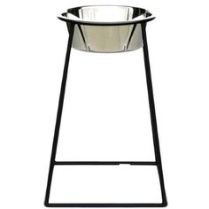Pets Stop Raised Single Bowl 18 in. Pyramid Diner - 3 qt.