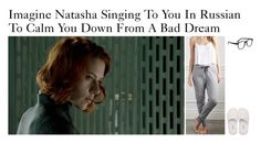"""""""Imagine Natasha Singing To You In Russian To Calm You Down From A Bad Dream"""" by alyssaclair-winchester ❤ liked on Polyvore featuring Forever 21, GANT, Larke, imagine, Avengers, marvel, NatashaRomanoff and BlackWidow"""
