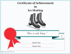 Sports certificate snowboard certificate template certificate of achievement in ice skating yelopaper Images