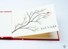 Guest Book Custom Perfect for wedding by Watermark Bindery on Etsy