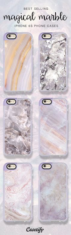 Best selling marble iPhone 6S phone cases right now! Shop them > https://www.casetify.com/artworks/hmklOyy4Rd