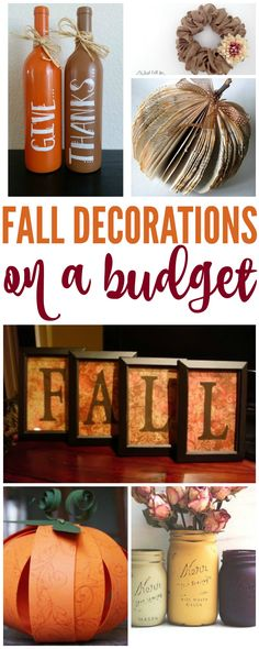 I have some FANTASTIC Fall Decorations You Can Make on a Budget today! Fall is the perfect time of year and there are tons of great decoration ideas for cheap! via @Passion4Savings