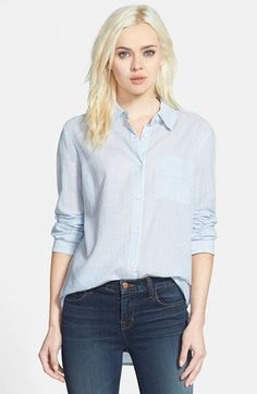 Splendid Back Pleat Pinstripe Shirt available at #Nordstrom
