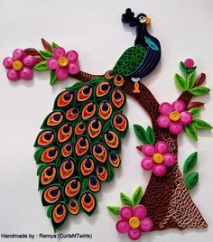 Quilled Peacock <3 www.facebook.com/curlsandtwirls