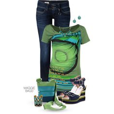 A fashion look from May 2014 featuring Desigual tops, Pepe Jeans London jeans and Michael Antonio sandals. Browse and shop related looks.