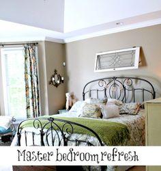 Master bedroom refreshed - Debbiedoo's