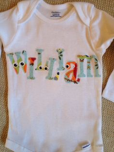 Show off your sweet baby with a personalized, appliquéd owl fabric onesie. We hand knot all our onesies so they wont unravel. Made from 100%