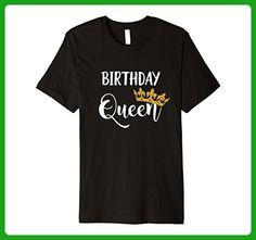 Mens Funny Birthday Queen T Shirt Gold Crown Premium Slim Fit Small Black - Birthday shirts (*Amazon Partner-Link)