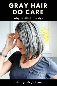 """If you've ever caught yourself thinking """"I could never go gray"""" or """"Gray hair is ugly,"""" this post is for you! Shining a light on some beautiful role models. Grey Hair Care, Grey Curly Hair, Curly Hair Styles, Natural Hair Styles, Emo Hair, Going Grey Transition, Going Gray, Ombre Hair, Lilac Hair"""