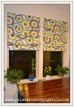Palmettos and Pigtsails: Easy Roman Curtain Tutorial