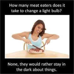 How many meat eaters...