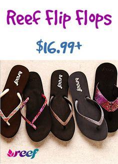 Reef Flip Flops Sale ~ $16.99+