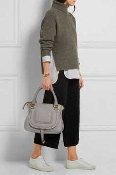 Chloe MARCIE BAG IN GRAINED CALFSKIN 3S0860-161-06T CASHMERE GREY ...