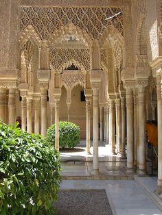 The Alhambra in Granada, Spain Islamic Architecture, Beautiful Architecture, Beautiful Buildings, Art And Architecture, Alhambra Spain, Granada Spain, Beautiful Places In The World, Wonderful Places, Places To Travel