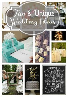 Unique and Fun Wedding Ideas | The Mindful Shopper