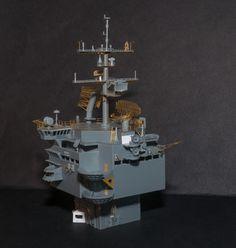 - uss Enterprise Part 11 Mechanical Arm, Cross Beam, Flight Deck, Uss Enterprise, Aircraft Carrier, Three Dimensional, Models, Navy, War