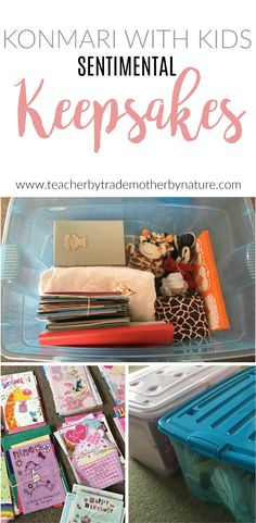 KonMari With Kids:Sentimental Keepsakes. Only keeping what 'sparks joy'. Declutter Your Home, Organize Your Life, Organizing Your Home, Small Space Organization, Home Organization Hacks, Garage Organization, Organizing Paperwork, Organising Tips, Konmari Method