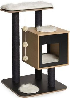 ARBRE A CHAT CATIT VESPER V-BASE NOIR - Design Cat tree - Vesper - Black